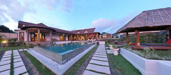 panorama shoot of the villa